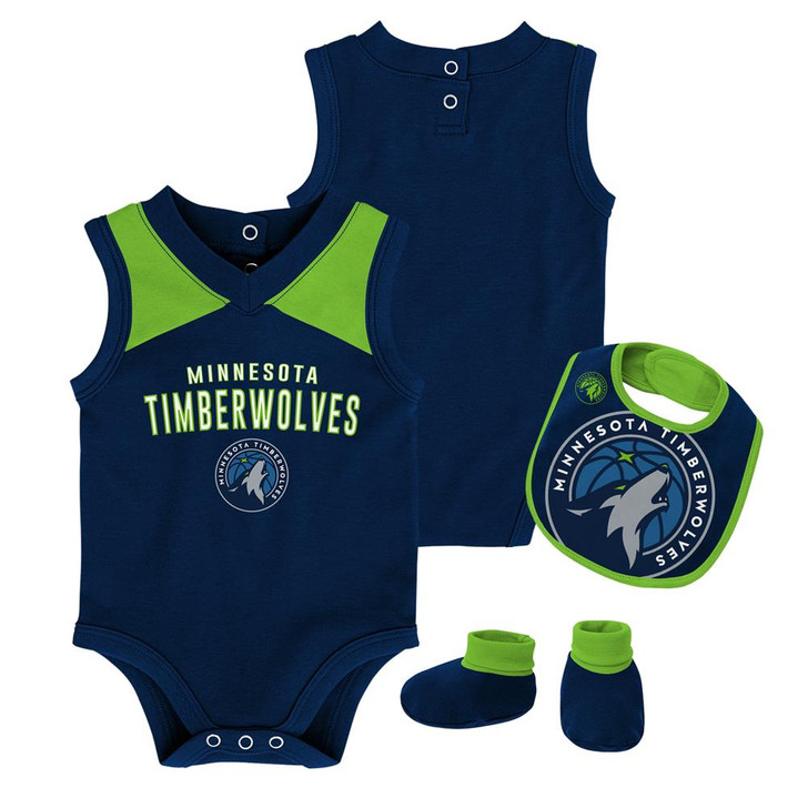 Infant Minnesota Timberwolves Creeper Set Baby Snapsuit Set