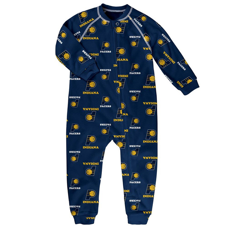 Infant/Toddler Indiana Pacers Coverall Zip Up Sleeper