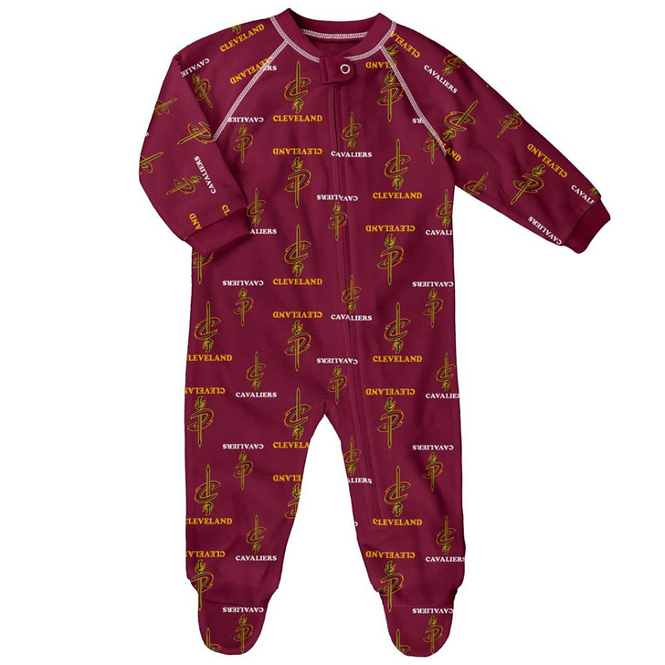 Infant/Toddler Cleveland Cavaliers Coverall Zip Up Sleeper
