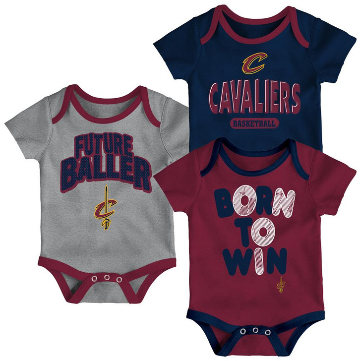 Cleveland Cavaliers Infant Creeper Set Lil Tailgater 3 Pack