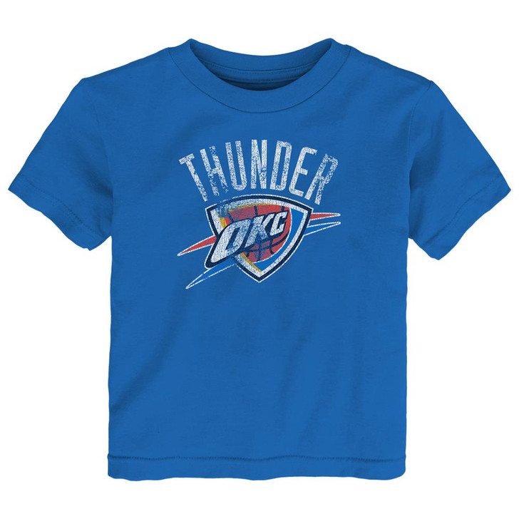 Kids Oklahoma City Thunder Tee Distress Logo Short Sleeve Tshirt