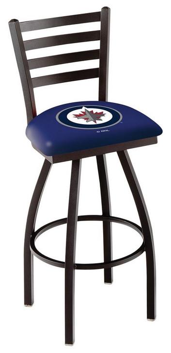 Winnipeg Jets Swivel Bar Stool with Back