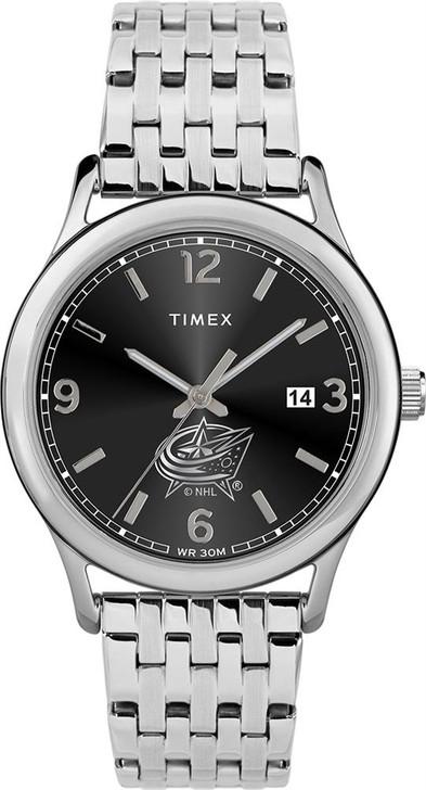 Women's Columbus Blue Jackets Watch Timex Sage Stainless Watch