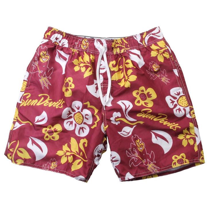 Men's Arizona State University Swim Trunks Floral Swim Shorts
