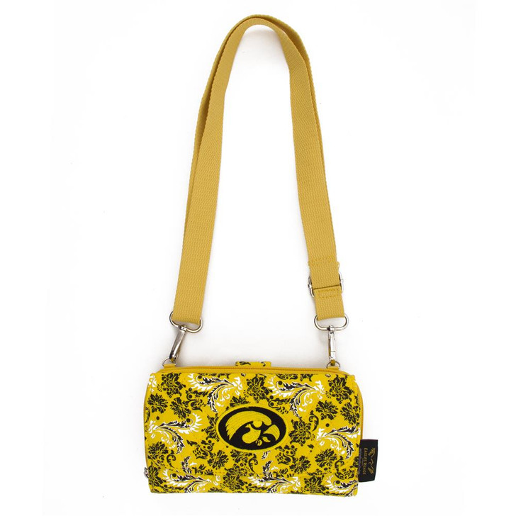University of Iowa Hawkeyes Wallet Quilted Mini Cross Body Purse