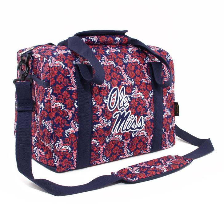 Ole Miss Rebels Duffel Bag Bloom Quilted Mini Travel Bag