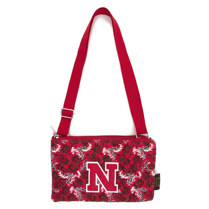 Nebraska Cornhuskers Purse Bloom Quilted Crossbody Handbag