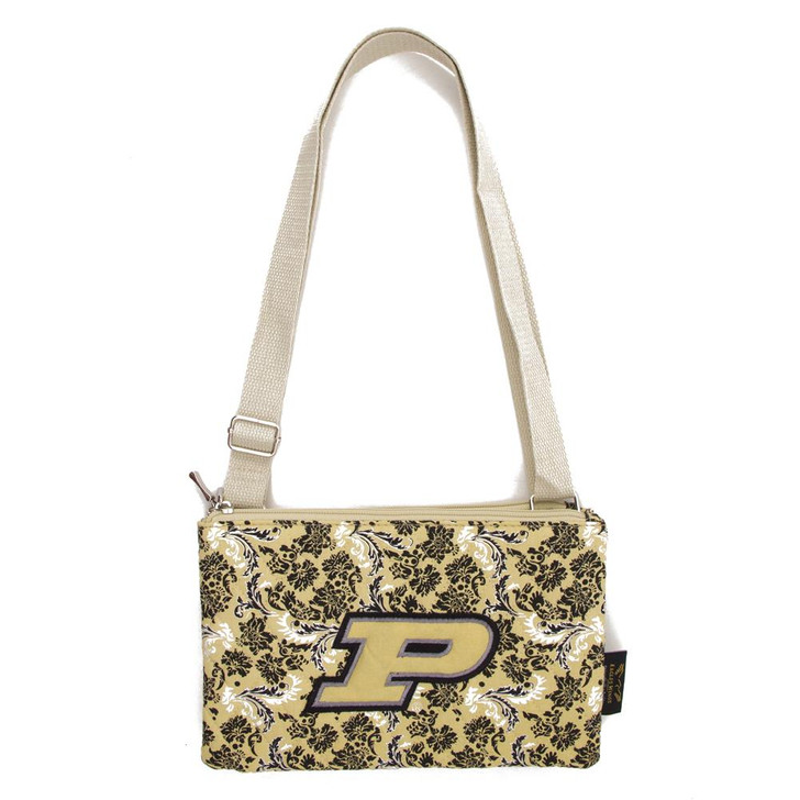 Purdue University Purse Bloom Quilted Crossbody Handbag