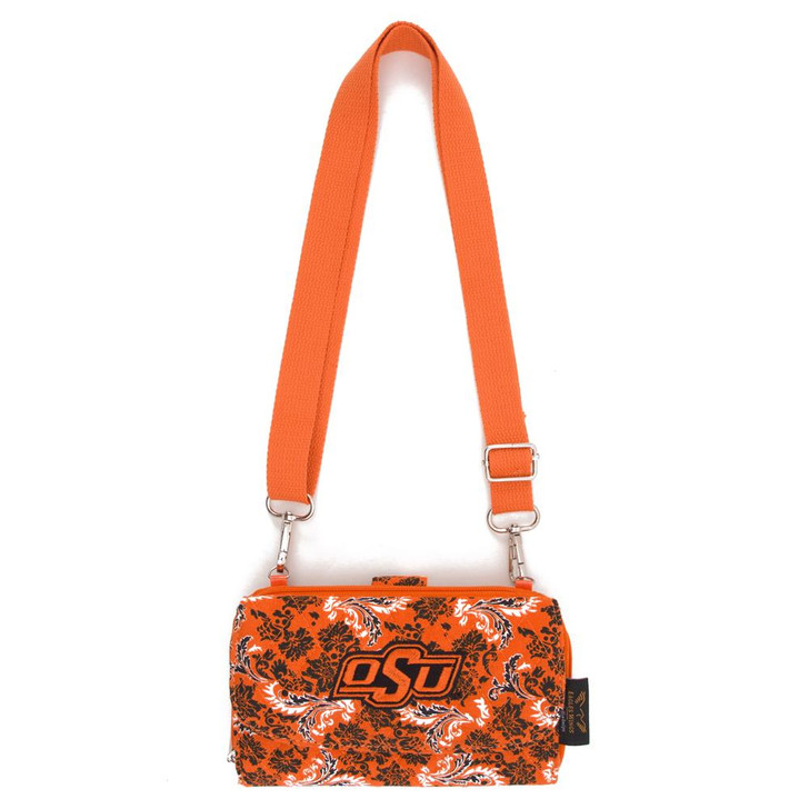 Oklahoma State University Wallet Quilted Mini Cross Body Purse