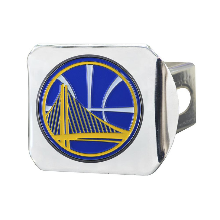 Golden State Warriors Trailer Hitch Chrome Hitch Cover