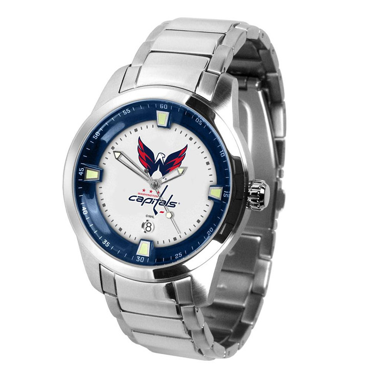 Mens Washington Capitals Watch Stainless Steel Titan Watch