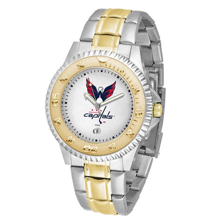 Men's Washington Capitals Watch Two-Tone Gold Silver Watch