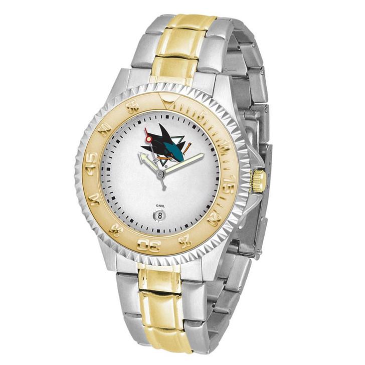 Men's San Jose Sharks Watch Two-Tone Gold Silver Watch