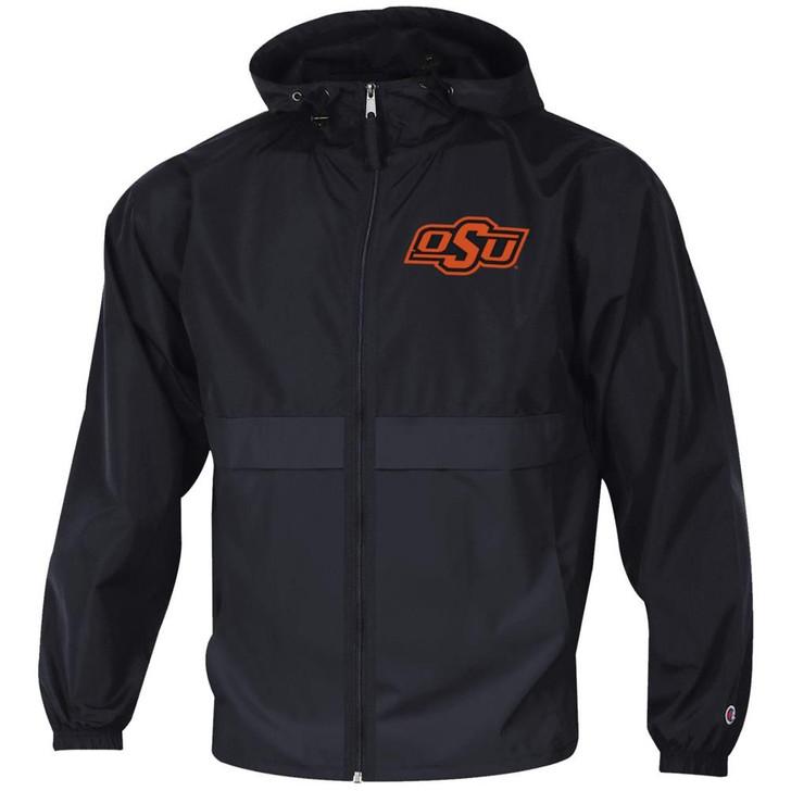 Men's Oklahoma State University Jacket Full Zip Windbreaker Jacket
