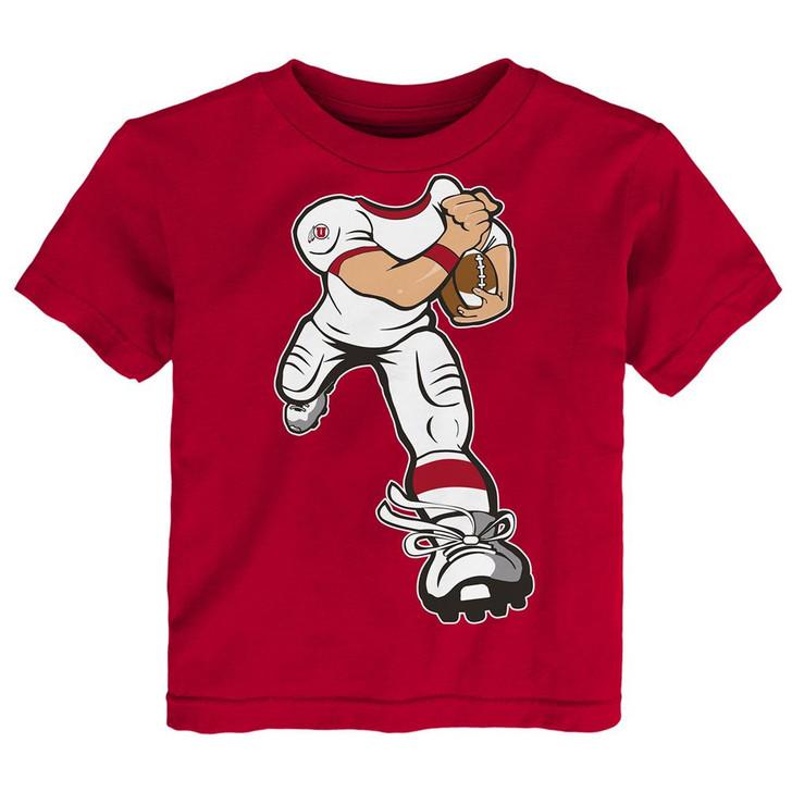 Toddler University of Utah Utes Tee Yard Rush Toddler T-Shirt