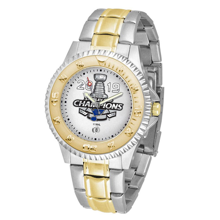 Men's 2019 Champions St Louis Blues Watch Two-Tone Gold Silver Watch