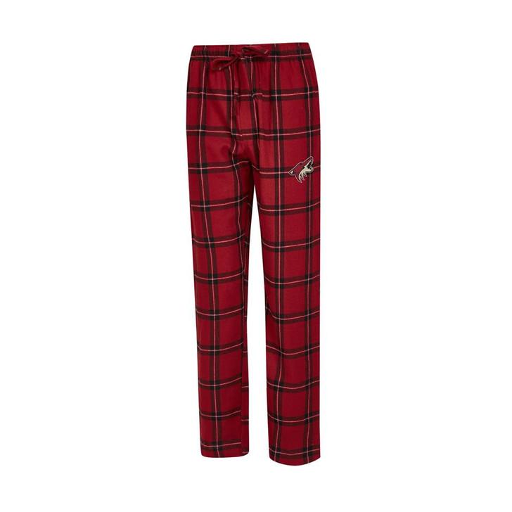 Phoenix Coyotes Men's Pajama Pants Plaid Pajama Bottoms