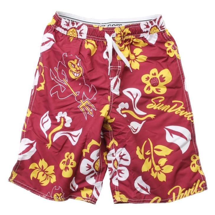 Youth Arizona State University Swim Trunks Boys Floral Swim Shorts