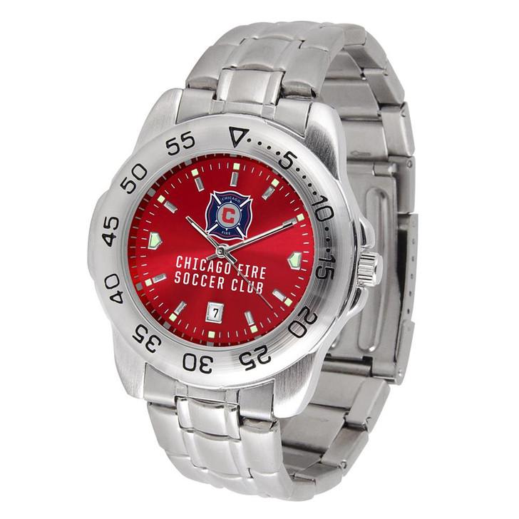 Men's Chicago Fire Sport Watch Stainless Steel Watch