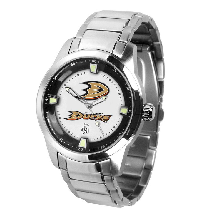 Mens Anaheim Ducks Watch Stainless Steel Titan Watch