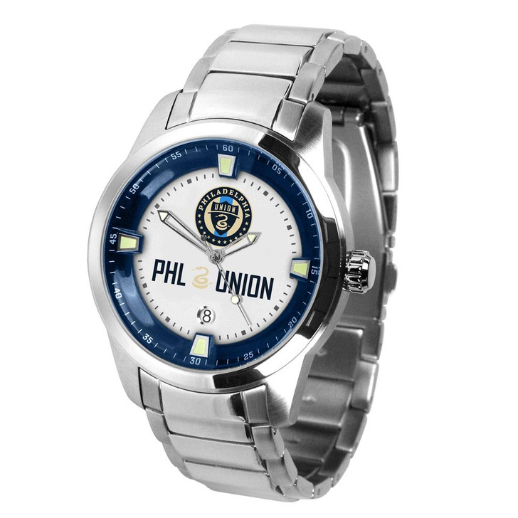 Mens Philadelphia Union Watch Stainless Steel Titan Watch