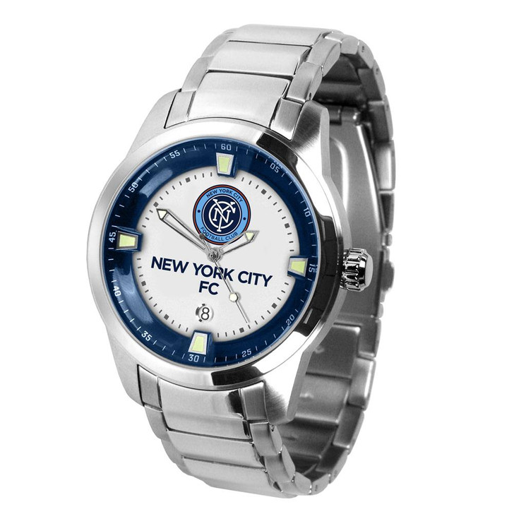 Mens New York City FC Watch Stainless Steel Titan Watch