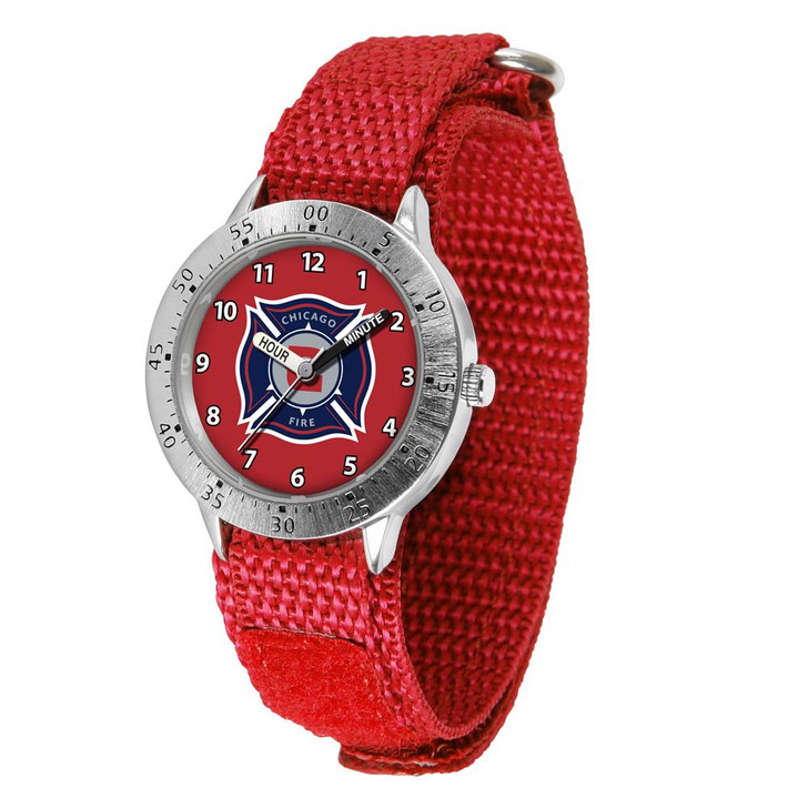 Youth Chicago Fire Watch Adjustable Hook and Loop Band