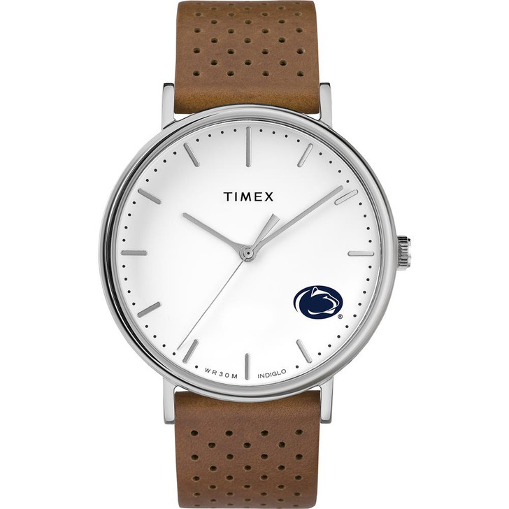 Womens Timex Penn State University Watch Bright Whites Leather