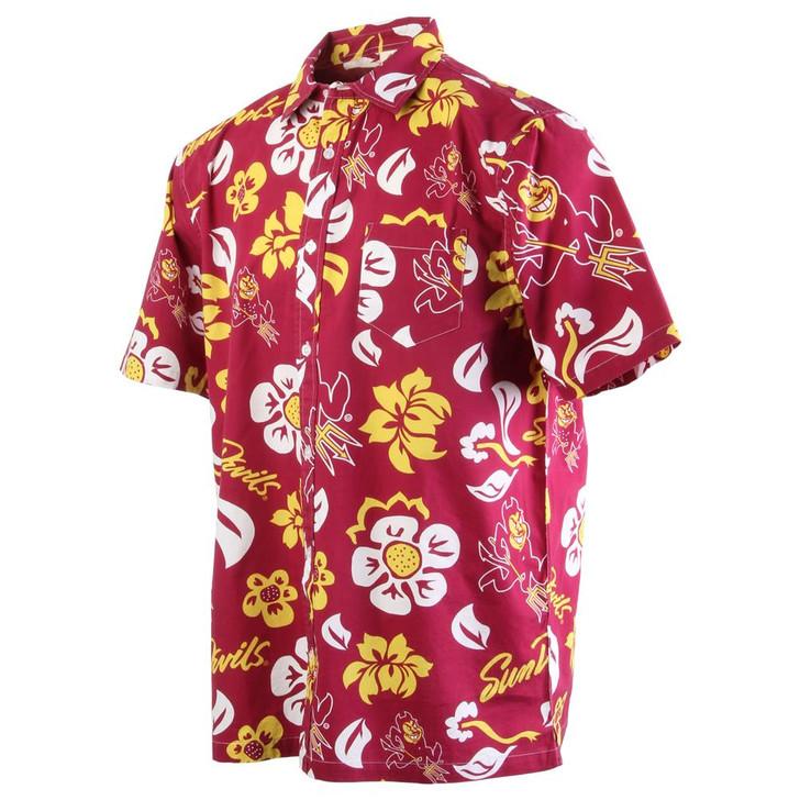 Men's Arizona State University Floral Shirt Button Up Beach Shirt