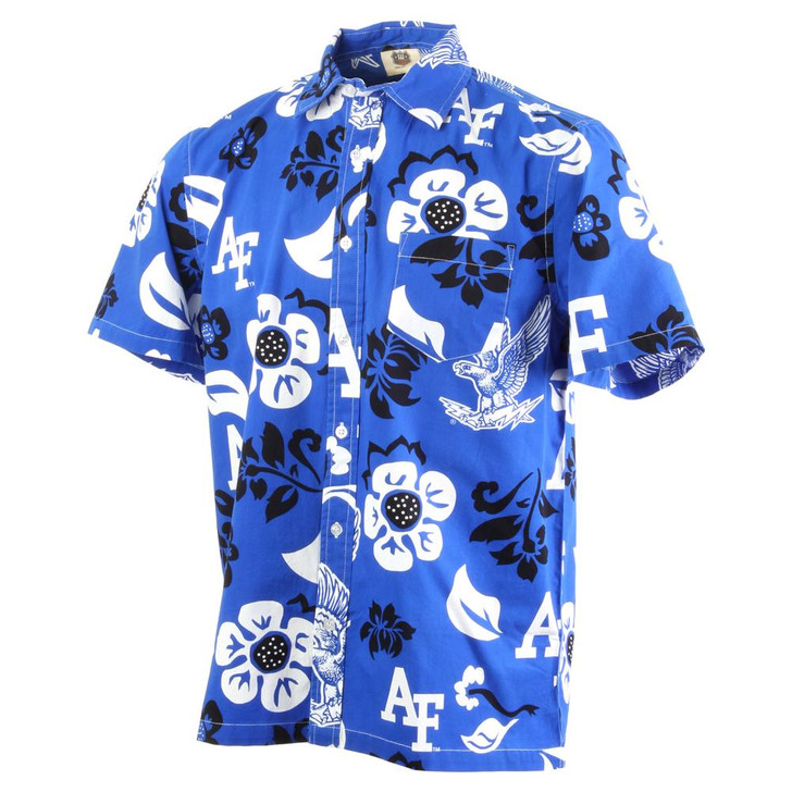 Men's Air Force Academy Falcons Floral Shirt Button Up Beach Shirt