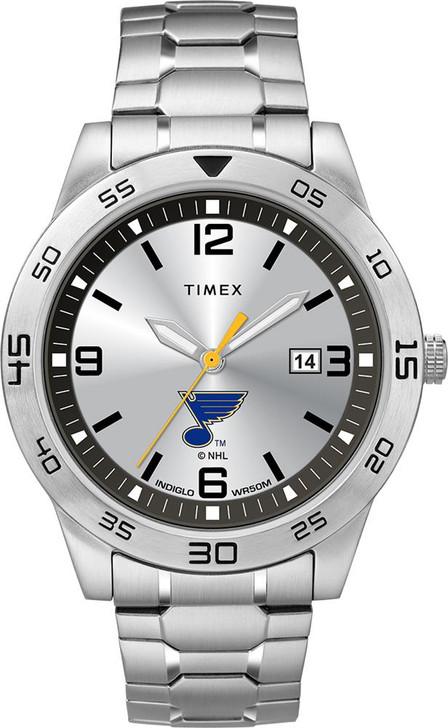 Men's Saint Louis Blues St Watch Timex Citation Steel Watch