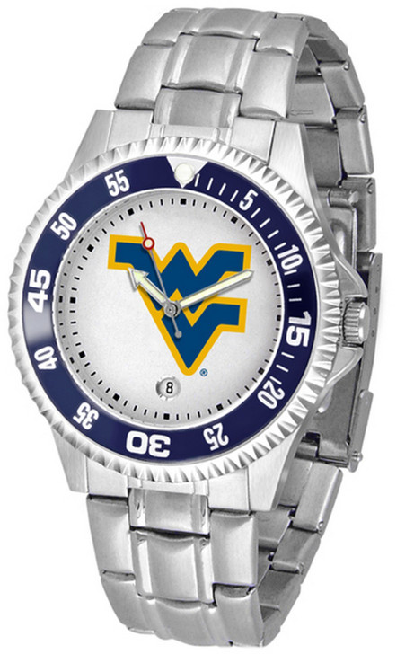 Men's West Virginia Mountaineers Watch Competitor Stainless Steel