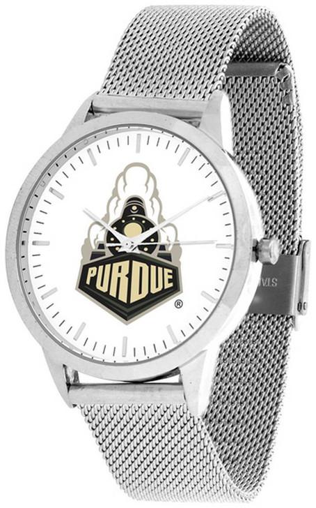 Purdue University Watch Silver Mesh Statement Wristwatch