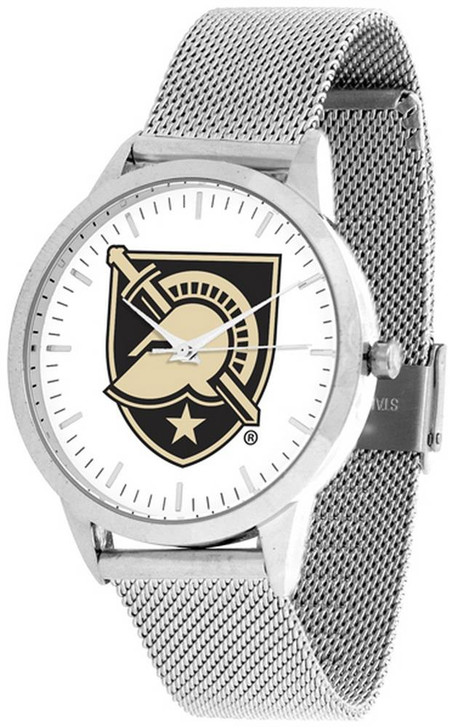 Army Black Knights Watch Silver Mesh Statement Wristwatch