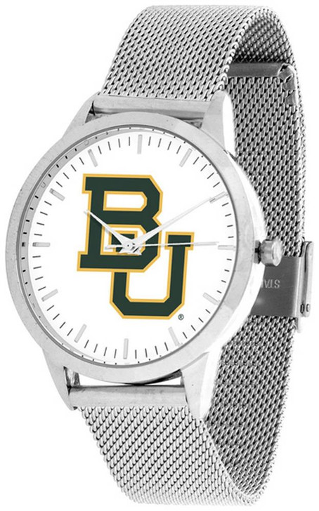 Baylor University Bears Watch Silver Mesh Statement Wristwatch