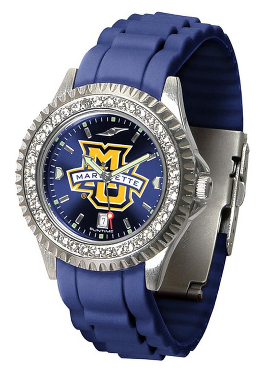 Women's Marquette University Watch Sparkle Bezel Silicone Band