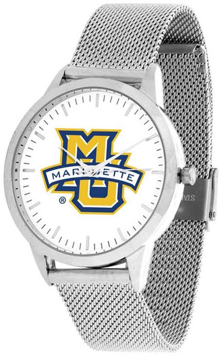 Marquette University Watch Silver Mesh Statement Wristwatch
