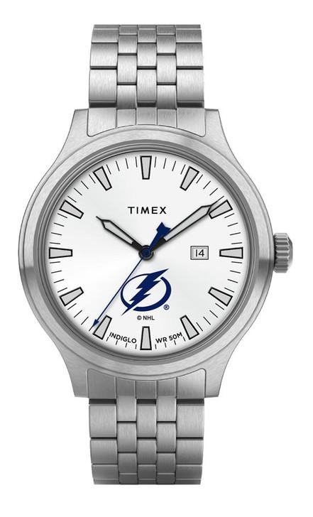 Men's Tampa Bay Lightning Watch Stainless Steel Top Brass