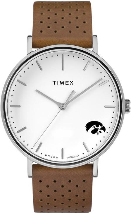Womens Timex University of Iowa Hawkeyes Watch Bright Whites Leather