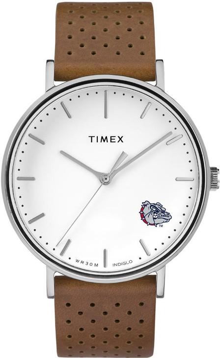 Womens Timex Gonzaga University Bulldogs Watch Bright Whites Leather