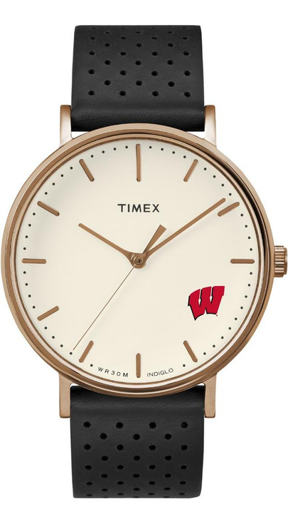 Ladies Timex University of Wisconsin Badgers Watch Rose Gold Grace Watch