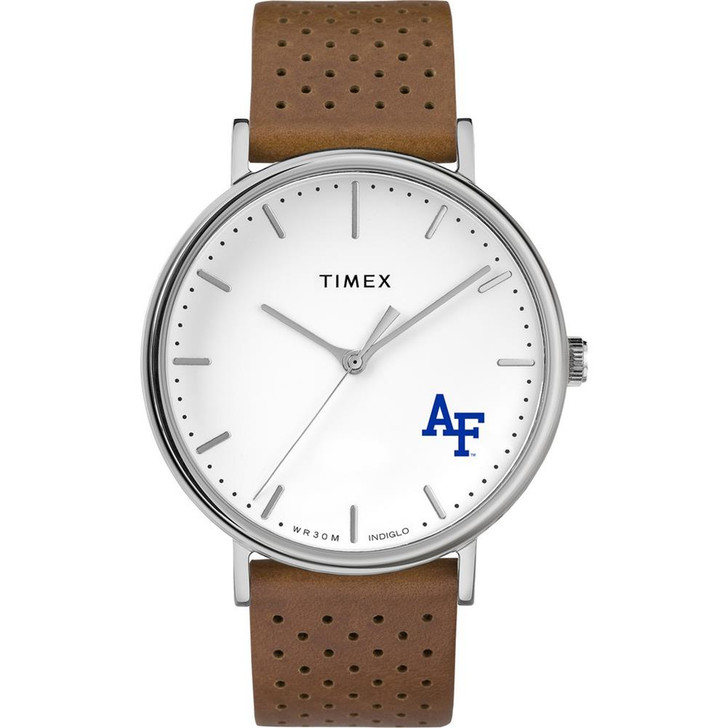 Womens Timex Air Force Academy Falcons Watch Bright Whites Leather
