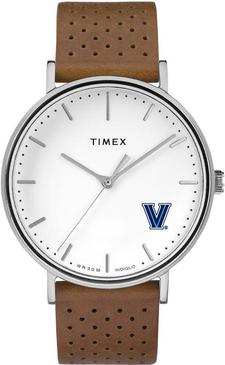 Womens Timex Villanova University Watch Bright Whites Leather