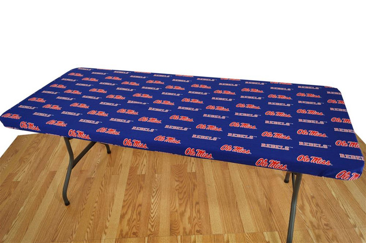 Ole Miss Rebels Tablecloth Reusable 6ft Table Cover