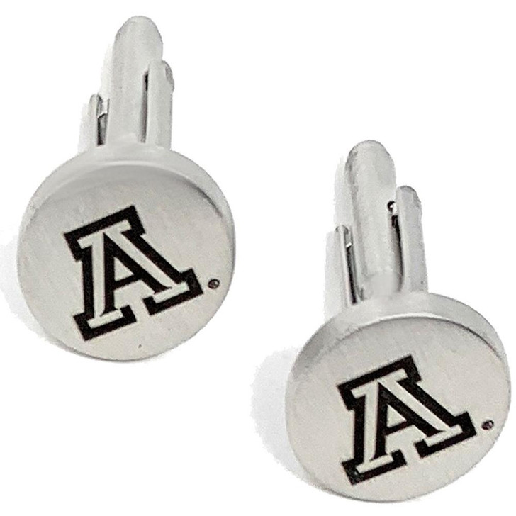 Arizona Wildcats Cuff Links Silver Cufflink Set