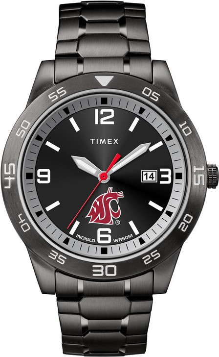 Washington State University Men's Black Acclaim Timex Watch