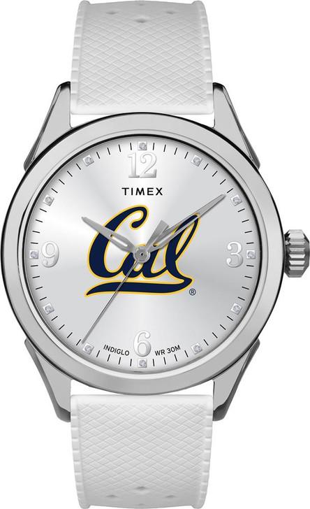 Cal Berkeley Golden Bears Ladies Silcone Athena Timex Watch