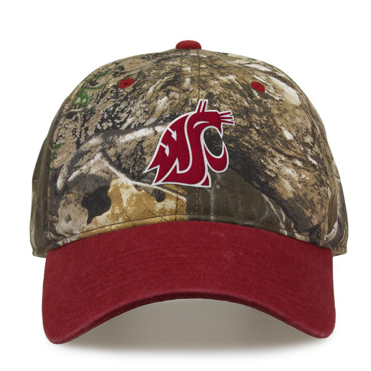 Washington State University Camo Hat Realtree Edge Camo Two-Tone Cap