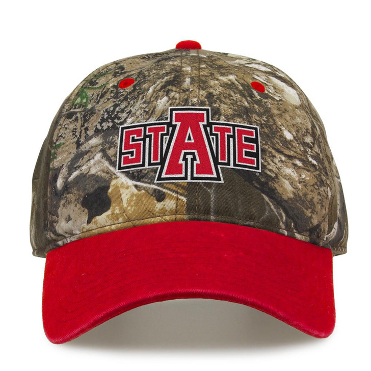 Arkansas State Red Wolves Camo Hat Realtree Edge Camo Two-Tone Cap