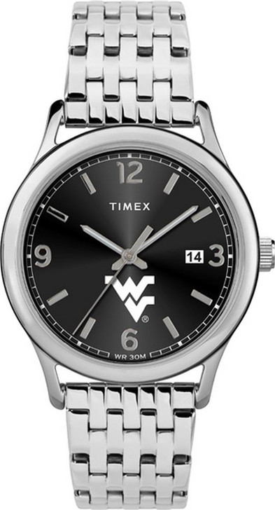 Women's West Virginia Mountaineers Watch Timex Sage Stainless Watch